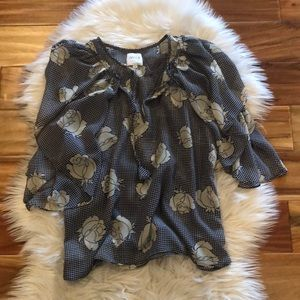 Misa Los Angeles Floral Top Size Small